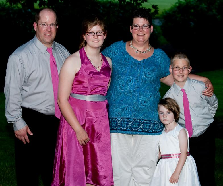 Bridesmaid dress, flower girl's dress, ties for ushers.