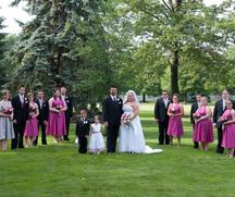 Vests for groomsmen, bridesmaid's dresses, flowergirl's dress.